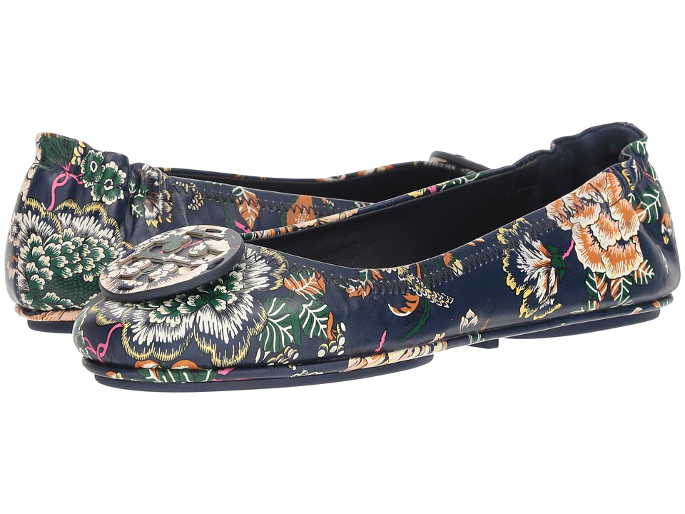 Tory Burch Minnie Travel Ballet Flat (Happy Times) Women's Shoes