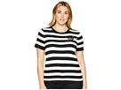 LAUREN Ralph Lauren LAUREN Ralph Lauren Plus Size Buttoned Striped Top