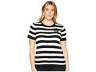 LAUREN Ralph Lauren Plus Size Buttoned Striped Top