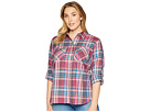 LAUREN Ralph Lauren LAUREN Ralph Lauren Plus Size Plaid Twill Button-Down Shirt