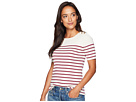 LAUREN Ralph Lauren LAUREN Ralph Lauren Button-Trim Striped Sweater