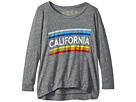 The Original Retro Brand Kids Retro California 3/4 Tri-Blend Pullover (Big Kids)