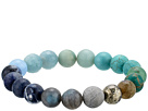 Dee Berkley Ombre Chakra Gemstone Beaded Bracelet
