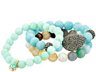 Dee Berkley Blue Evil Eye Gemstone Beaded Bracelet Set