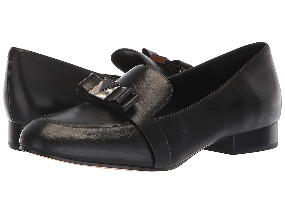 MICHAEL Michael Kors Caroline Loafer (Black Smooth Calf) Slip-On Shoes