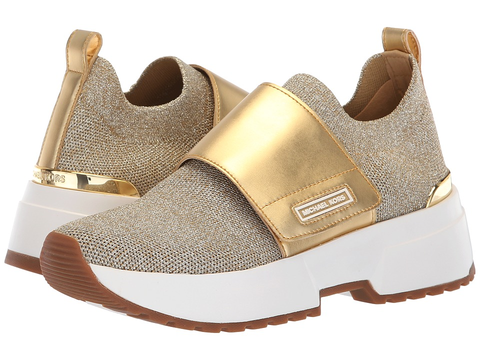 MICHAEL Michael Kors Cosmo Knit Slip-On (Gold Metallic Soft Knit/Matte Mirror) Slip-On Shoes