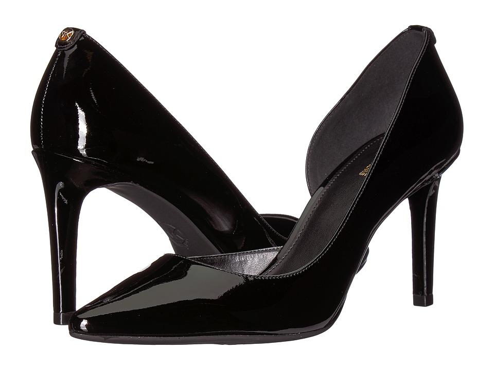 MICHAEL Michael Kors Dorothy Flex D'Orsay (Black Patent) High Heels