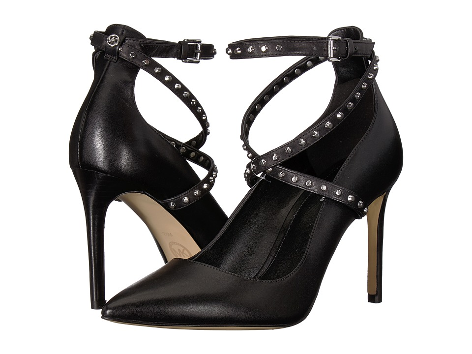 MICHAEL Michael Kors Jeannie Pump (Black Vachetta/Astor Studs) High Heels