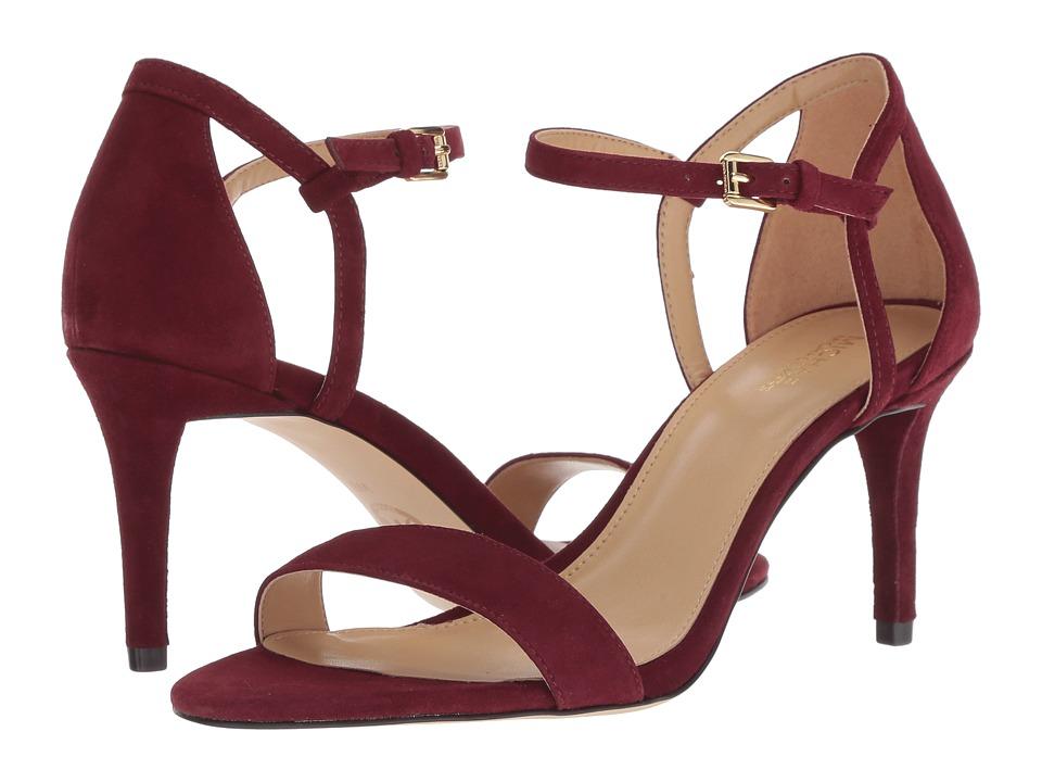 MICHAEL Michael Kors Simone Mid Sandal (Oxblood Kid Suede) Sandals
