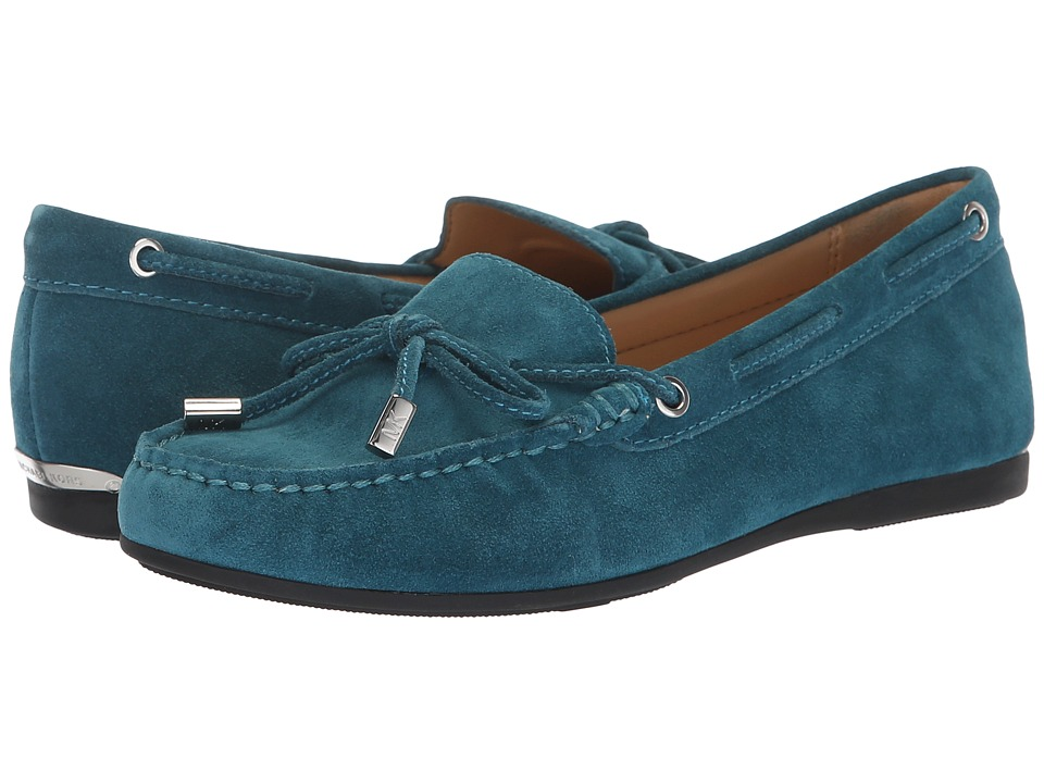 MICHAEL Michael Kors Sutton Moc (Luxe Teal Sport Suede) Women's Shoes
