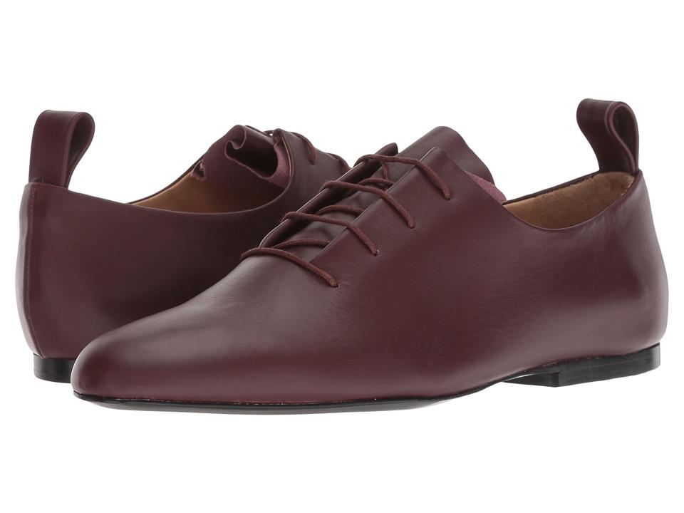 Jil Sander Navy JN31003A (Dark Red) Women's Lace Up Cap Toe Shoes