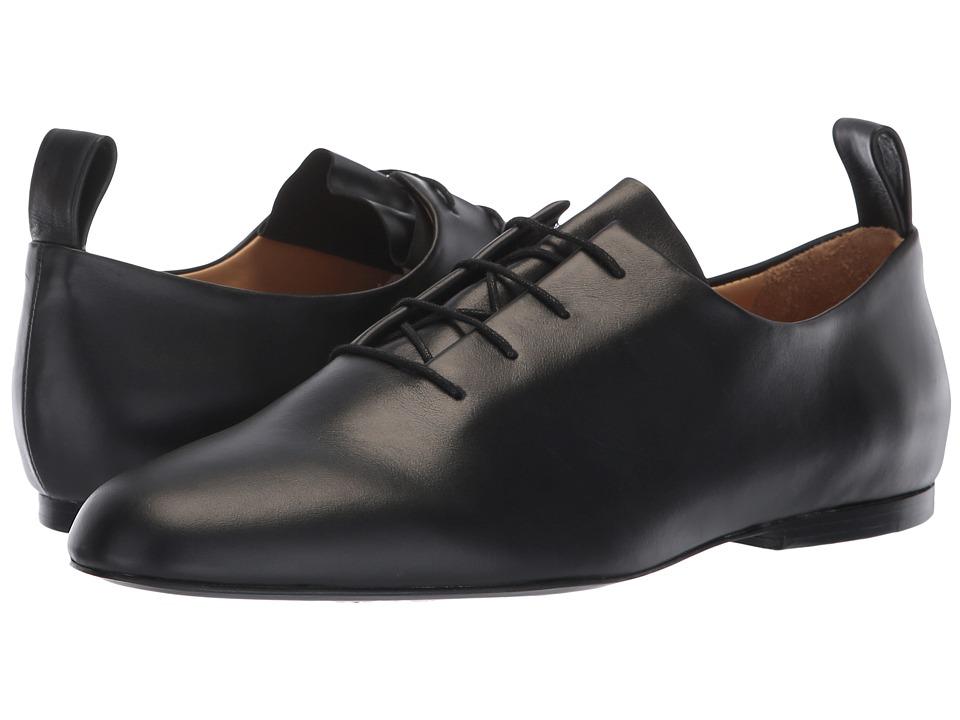 Jil Sander Navy JN31003A (Black) Women's Lace Up Cap Toe Shoes