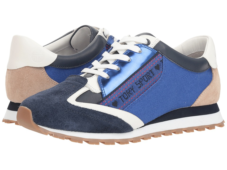 Tory Sport Banner Trainer (Bright Navy/Slalom Blue/Perfect Sand) Women's Shoes