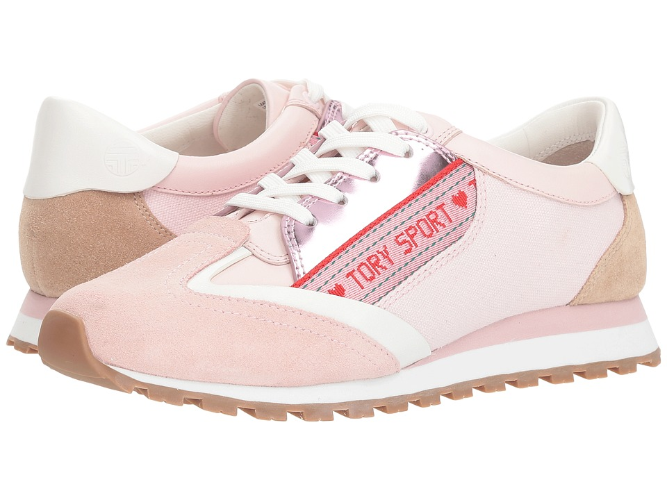 Tory Sport Banner Trainer (Cotton Pink/Perfect Sand/Snow White) Women's Shoes