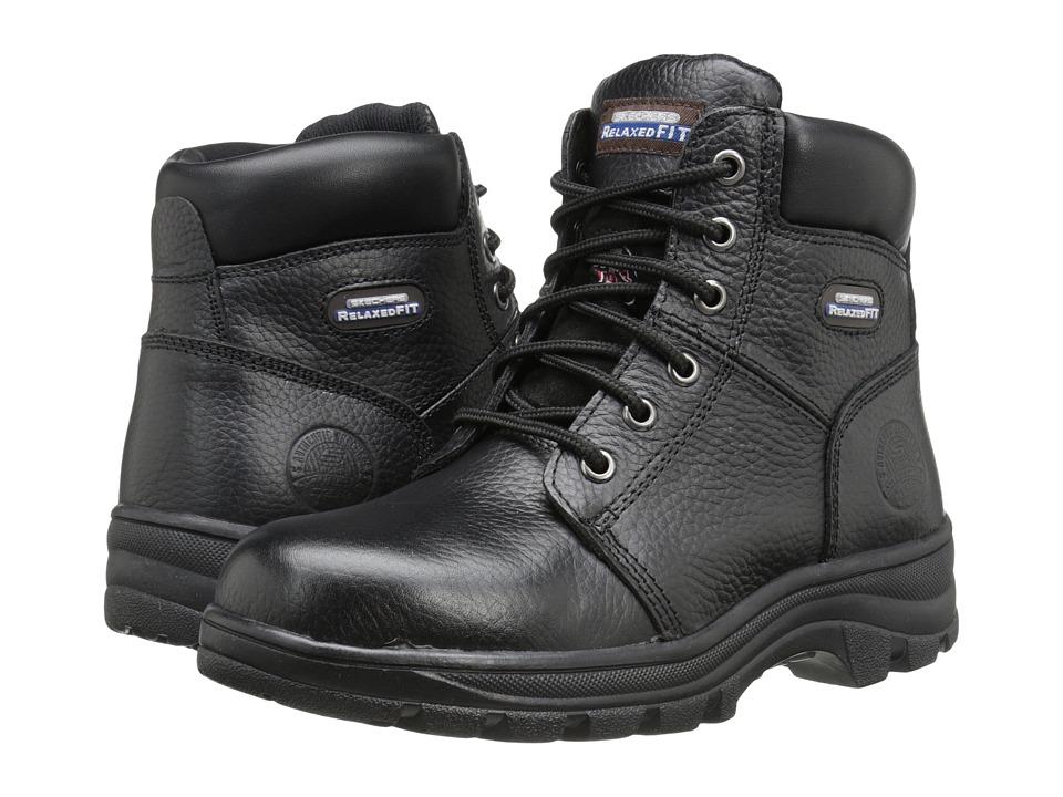 SKECHERS Work Workshire - Peril (Black) Women's Lace-up Boots