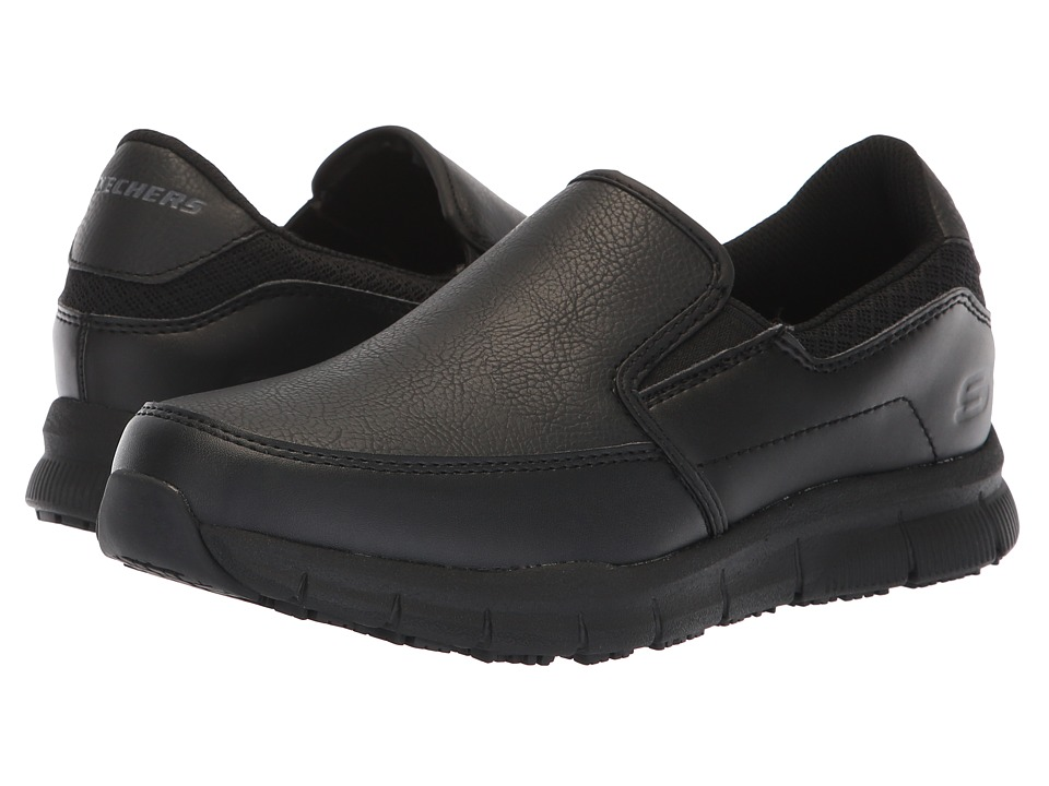 SKECHERS Work Nampa - Annod (Black) Women's Shoes
