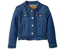 Levi's(r) Kids Ruffle Denim Trucker Jacket (Infant)