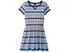 Tommy Hilfiger Kids Yarn-Dye Stripe Jersey Dress with Solid Trim (Big Kids)