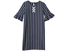 Tommy Hilfiger Kids Yarn-Dye Lace-Up Dress (Big Kids)