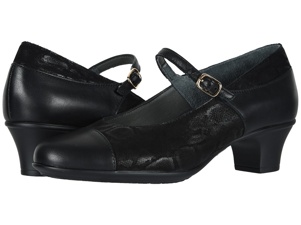 SAS Isabel (Black/Snake) Women's Shoes
