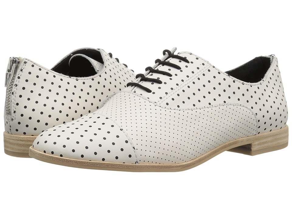Dolce Vita Polo (White/Black Leather) Women's Shoes