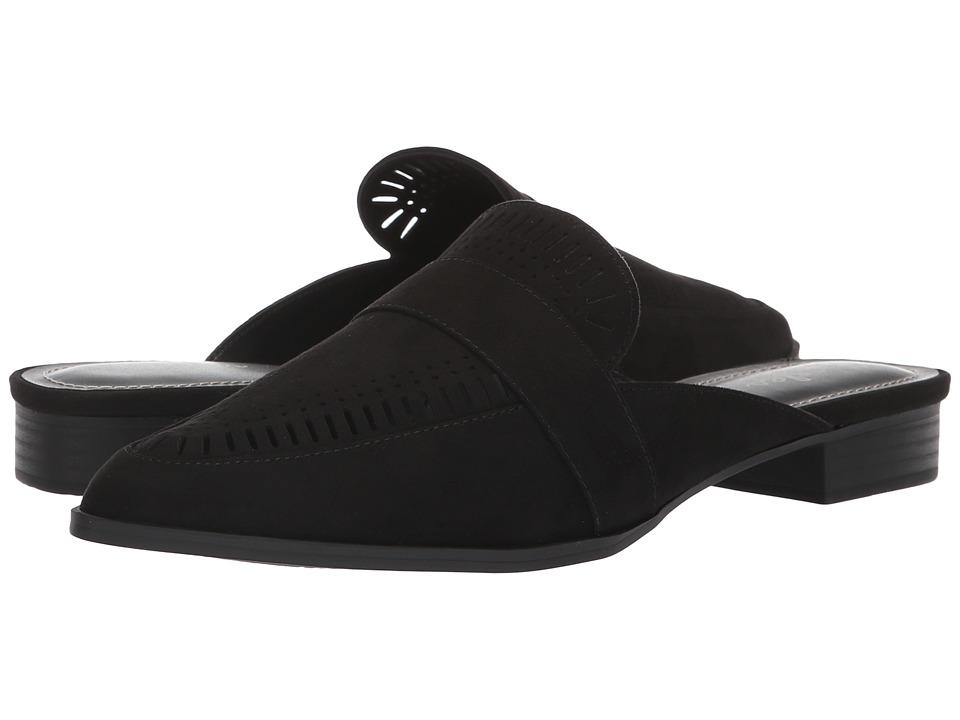Charles by Charles David Elle Slip-On Mule (Black Microsuede) Slip-On Shoes