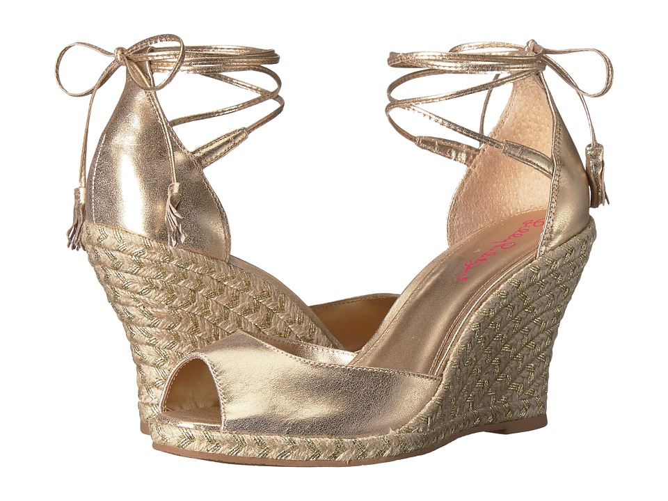 Lilly Pulitzer Aleena Wedge (Gold Metallic) Wedges