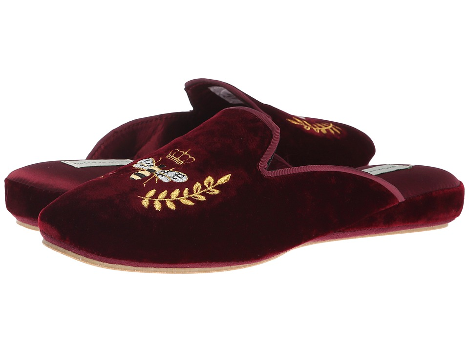 Patricia Green Beatrice (Burgundy) Slippers