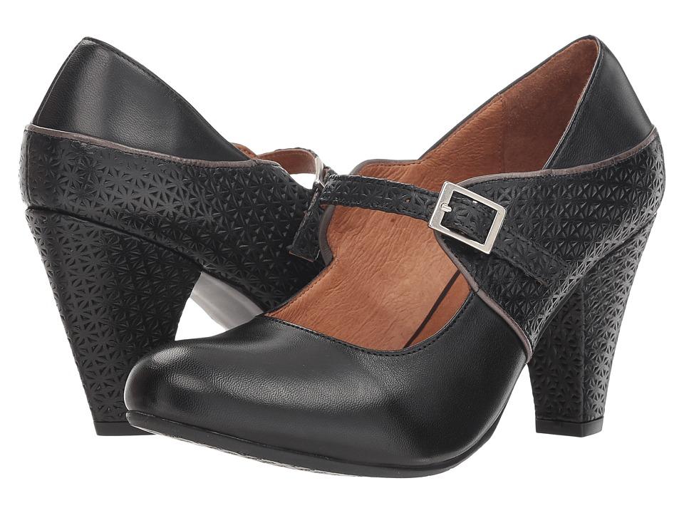Vintage Style Shoes, Vintage Inspired Shoes Miz Mooz Chantelle Black Womens Shoes $159.95 AT vintagedancer.com