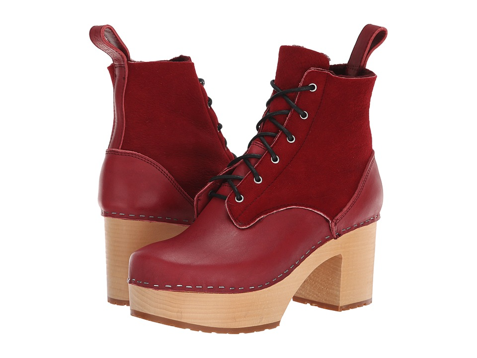 Swedish Hasbeens Hippie Lace-Up (Wine Red)