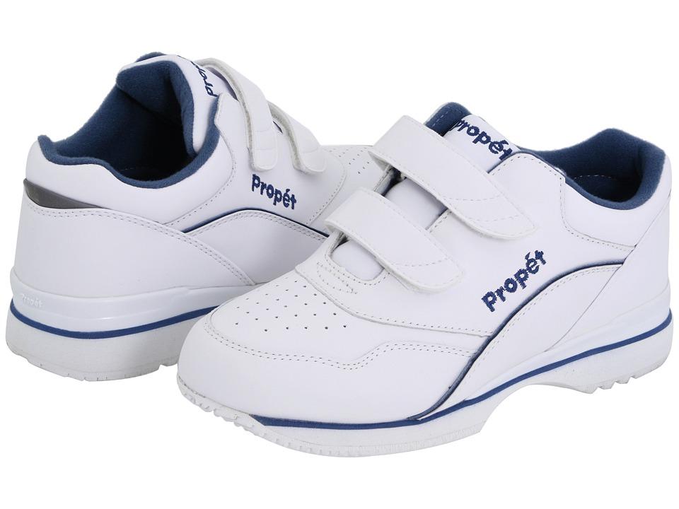 Propet Tour Walker Medicare/HCPCS Code = A5500 Diabetic Shoe (White/Blue) Women's Shoes