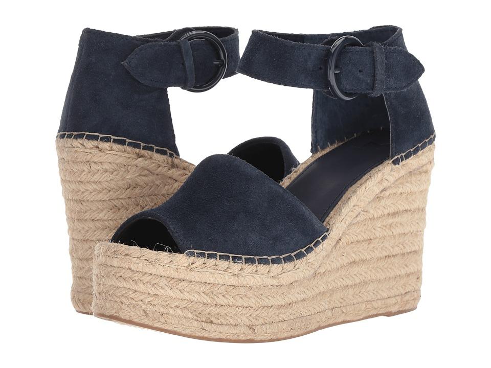 Marc Fisher LTD Alida Espadrille Wedge (Dark Blue Suede) Women's Shoes