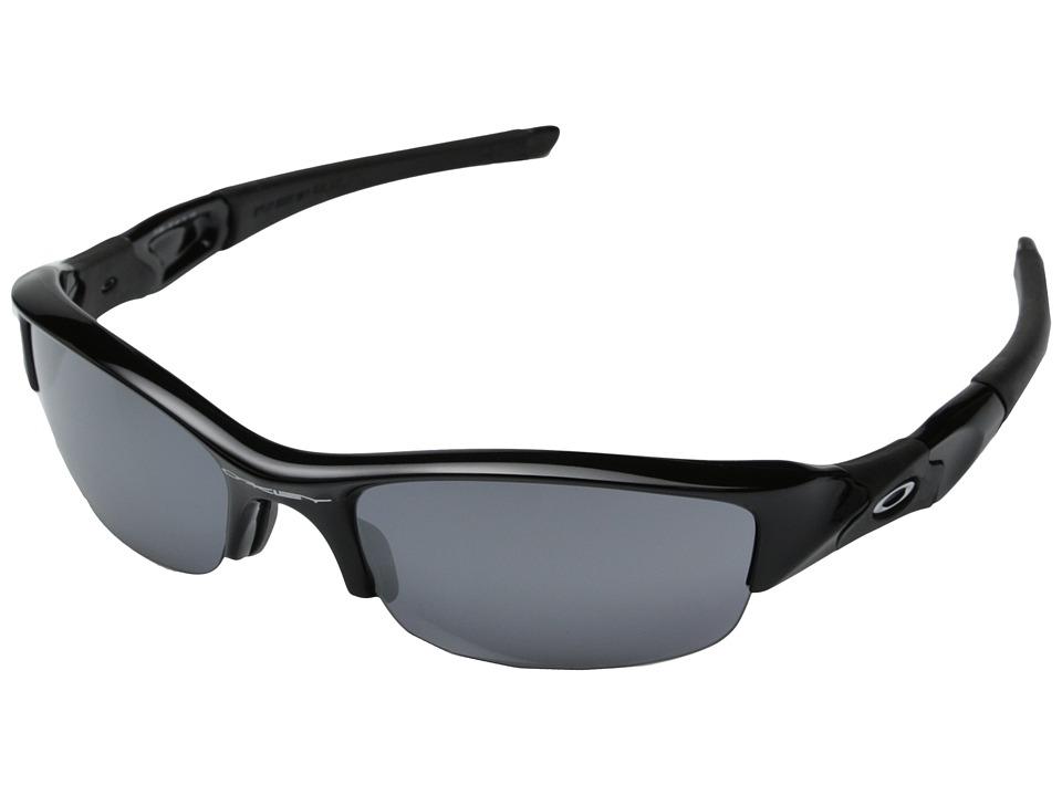Oakley Flak Jacket(r) (Jet Black/Black Iridium Lens) Sport Sunglasses