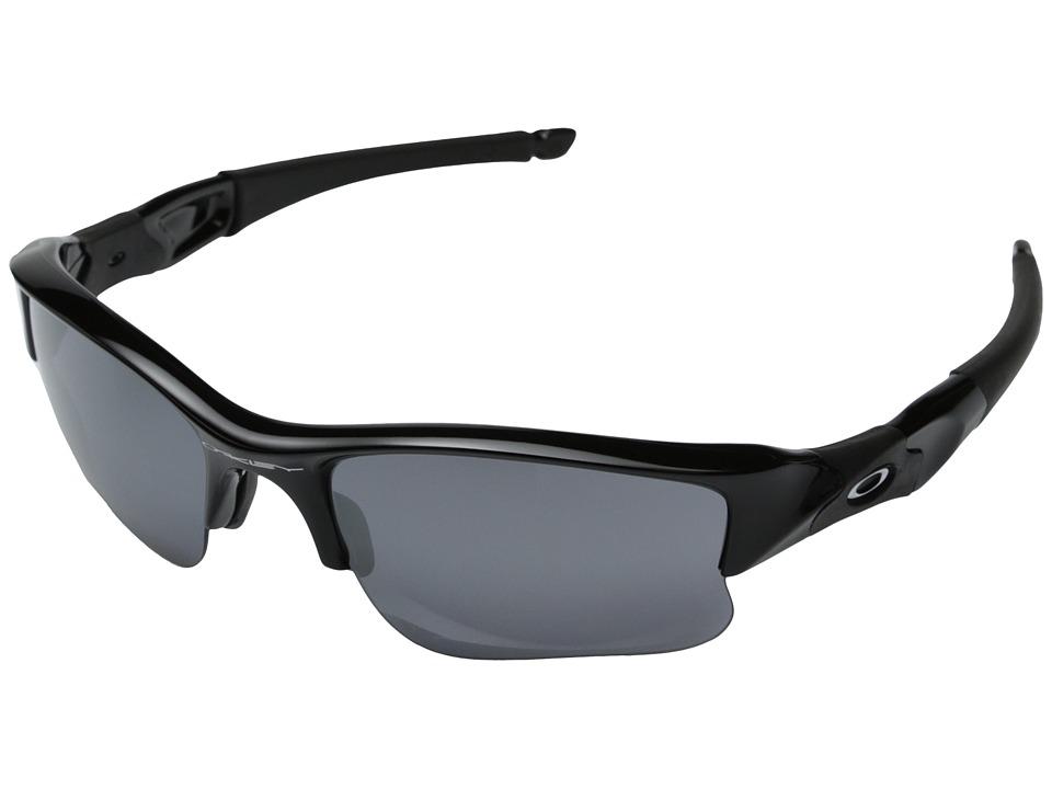 Oakley Flak Jacket(r) XLJ (Jet Black/Black Iridium Lens) Sport Sunglasses