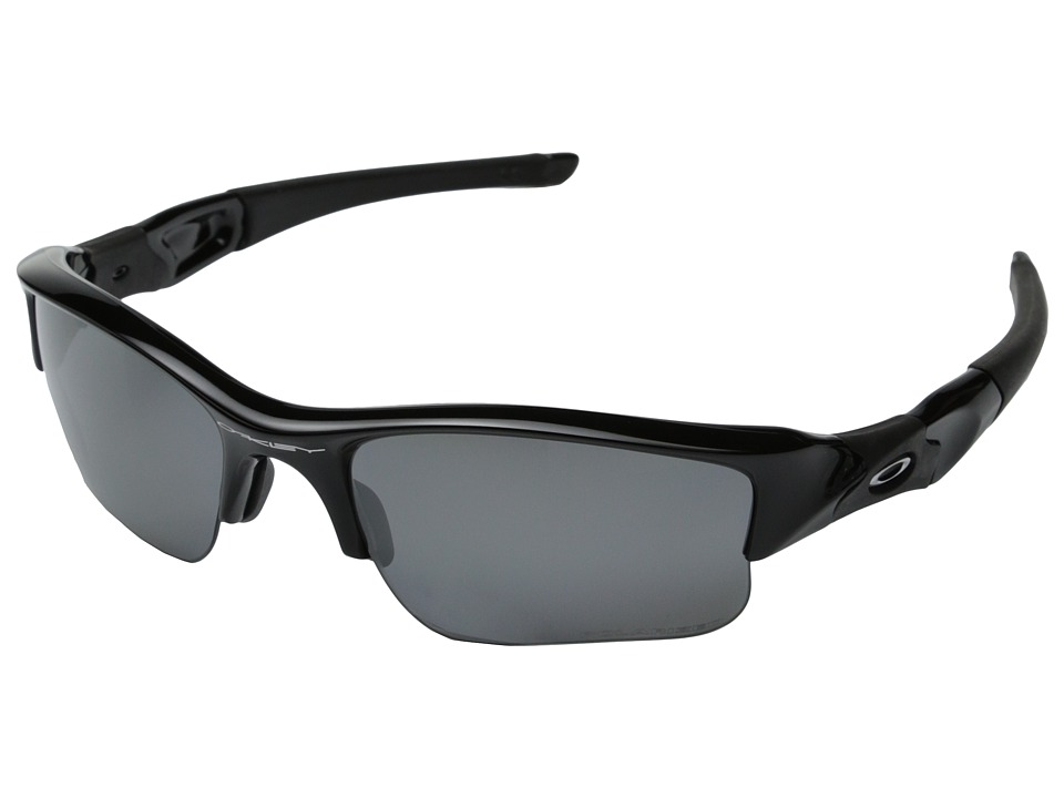 Oakley - Flak Jacket(r) XLJ Polarized (Jet Black/Black Iridum Polarized Lens) Sport Sunglasses
