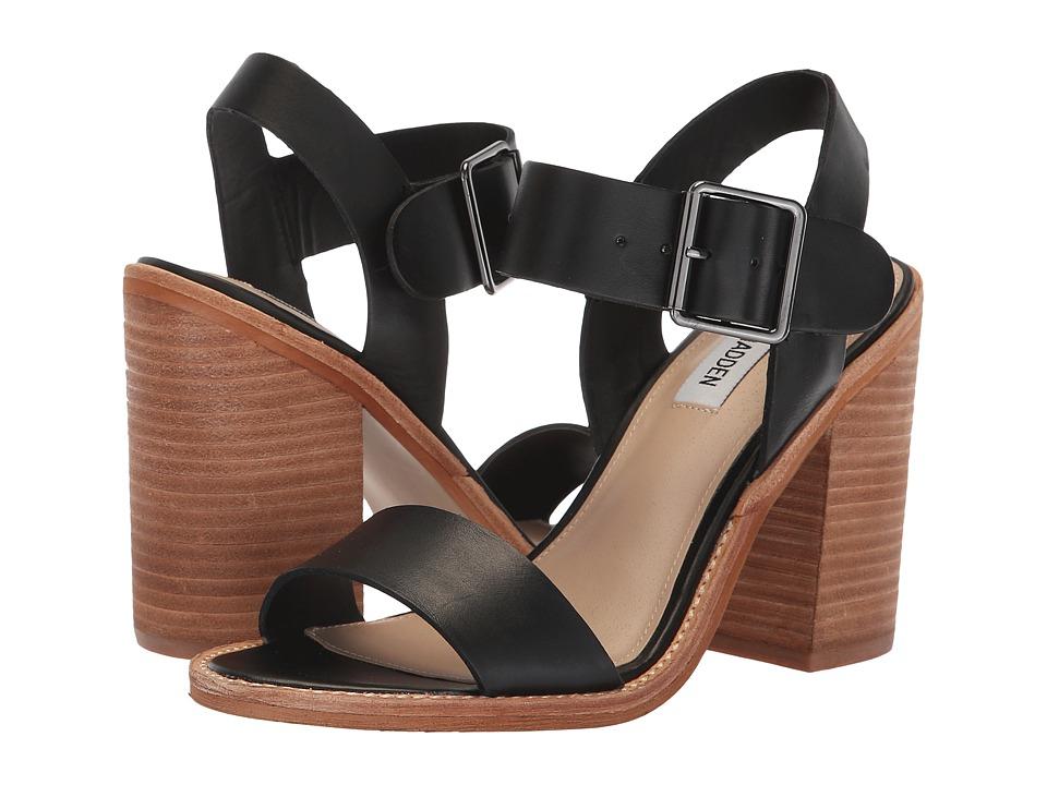 Steve Madden Castro (Black Leather) Women's Shoes