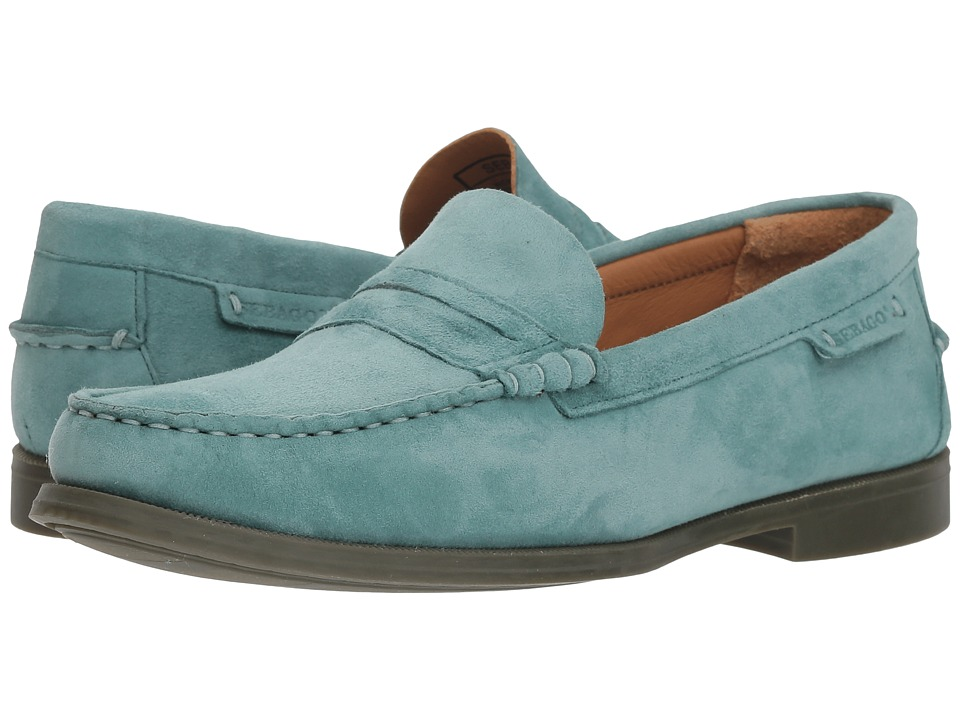 Sebago Plaza II (Teal Suede) Slip-On Shoes