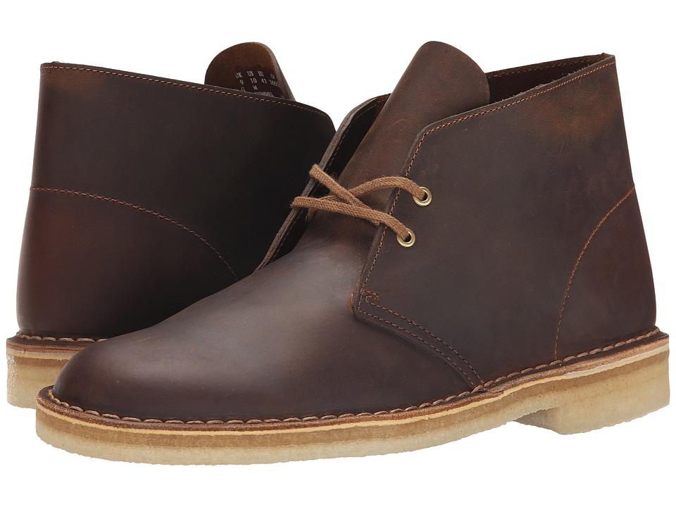 1960s Style Men's Clothing, 70s Men's Fashion Clarks - Desert Boot Beeswax Leather Mens Lace-up Boots $130.00 AT vintagedancer.com