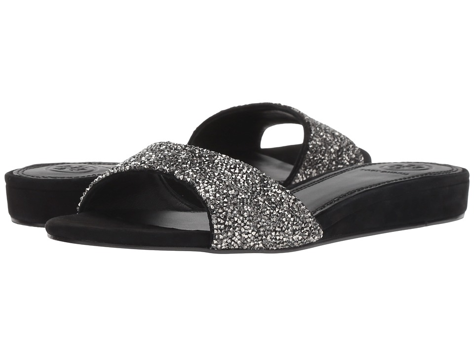 Tory Burch Elodie 20 mm. Slide (Hematite/Perfect Black) Women's Shoes