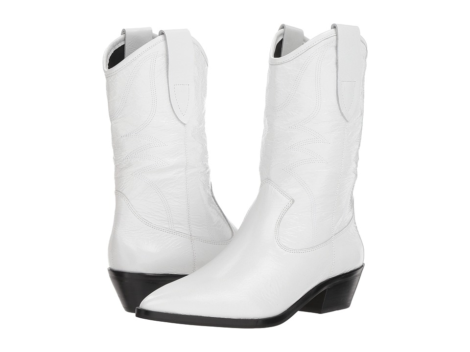 Rebecca Minkoff Kaiegan (White Shiny Leather)