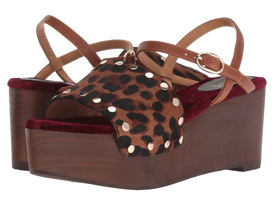 Joie Galla (Cognac Leopard Calf Hair) Women's Shoes