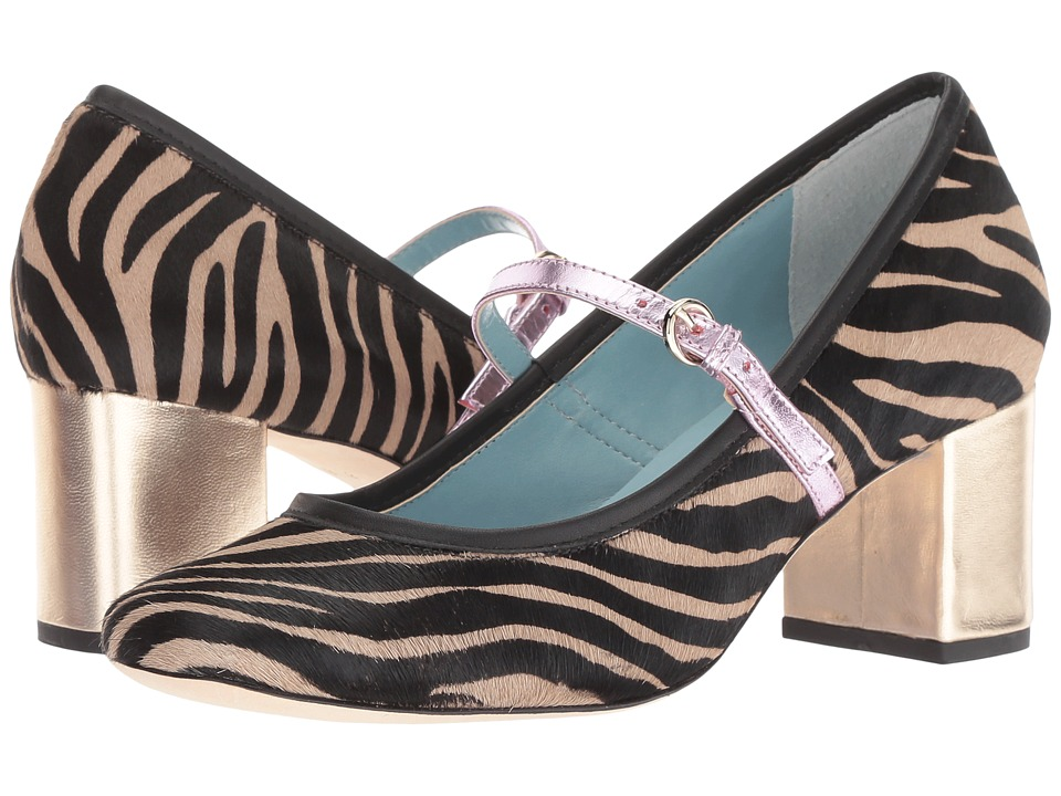 Frances Valentine Kat (Black/Taupe Zebra Haircalf) Women's Shoes