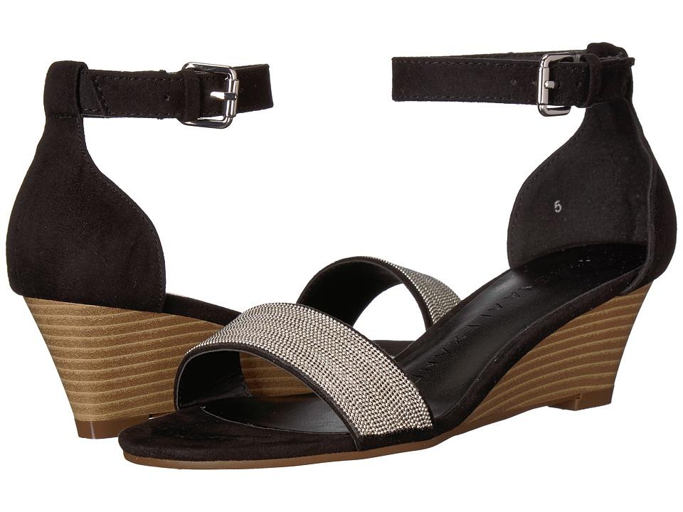 Athena Alexander Enfield Sandal Wedge (Black Suede) Wedges