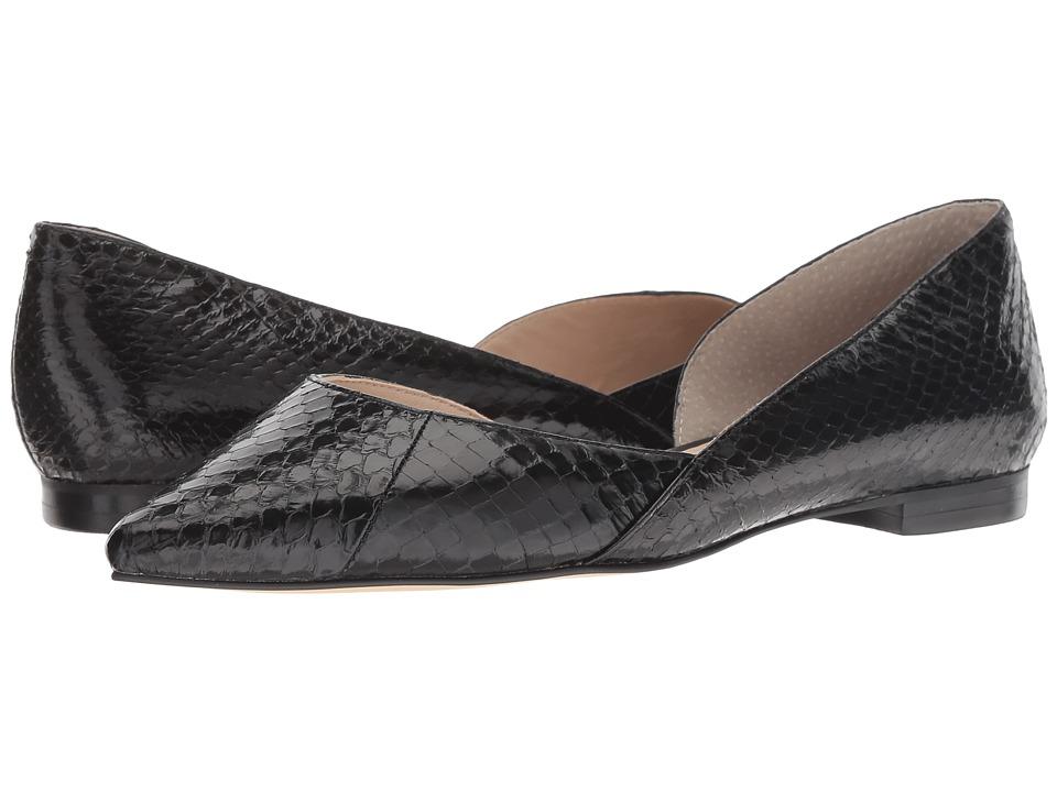 Marc Fisher LTD Sunnys 2 (Black Solid Shiny Snake) Women's Shoes