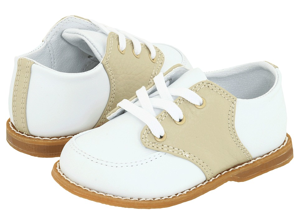 1940s Children's Clothing: Girls, Boys, Baby, Toddler Baby Deer - Conner Toddler WhiteTan Boys Shoes $48.00 AT vintagedancer.com