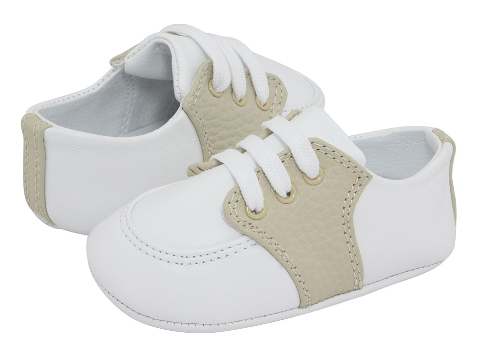 Baby Deer Conner 4176DTB Infant White/Tan Boys Shoes