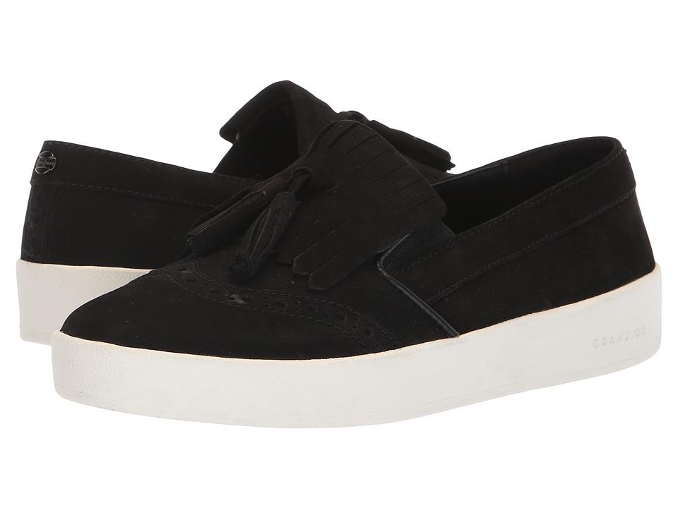 Cole Haan Grandpro Spectator Kiltie (Black Nubuck/Optic White) Women's Shoes