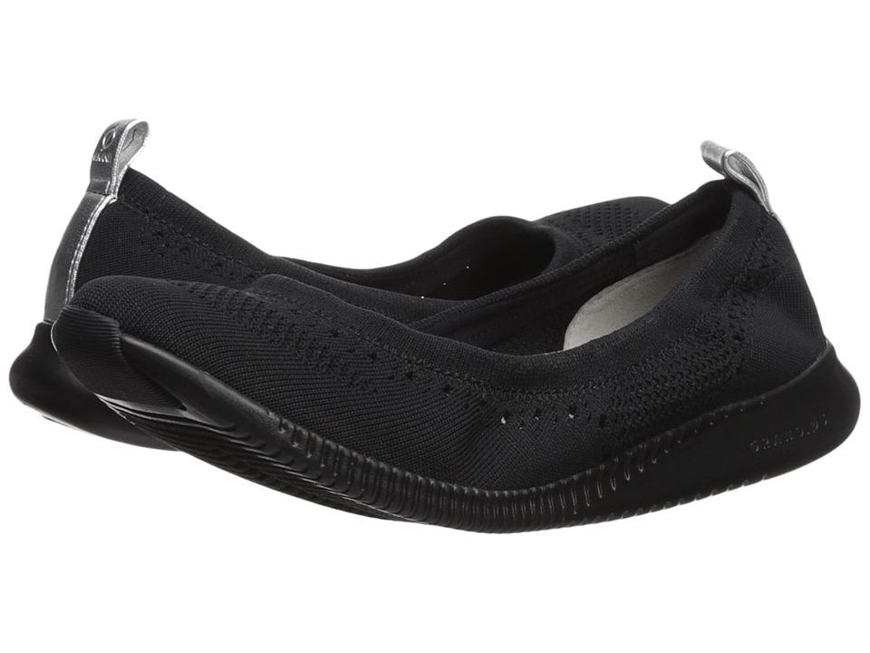 Cole Haan 2.Zerogrand Stitchlite Oxford (Black Knit/Ivory) Women's Shoes