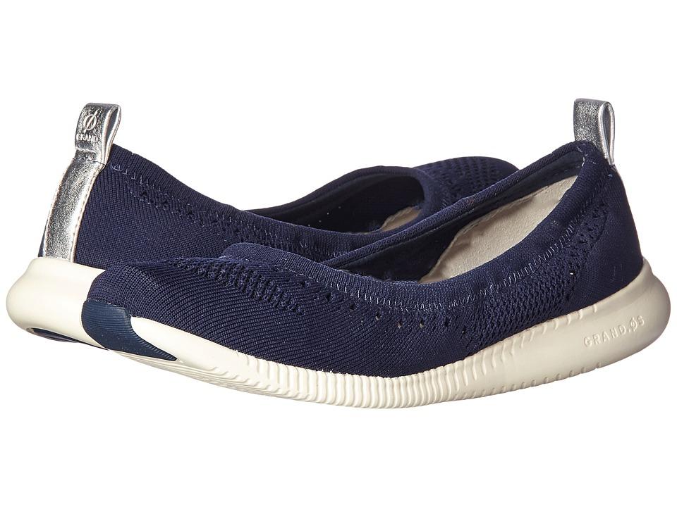Cole Haan 2.Zerogrand Stitchlite Ballet (Marine Blue Knit) Women's Shoes