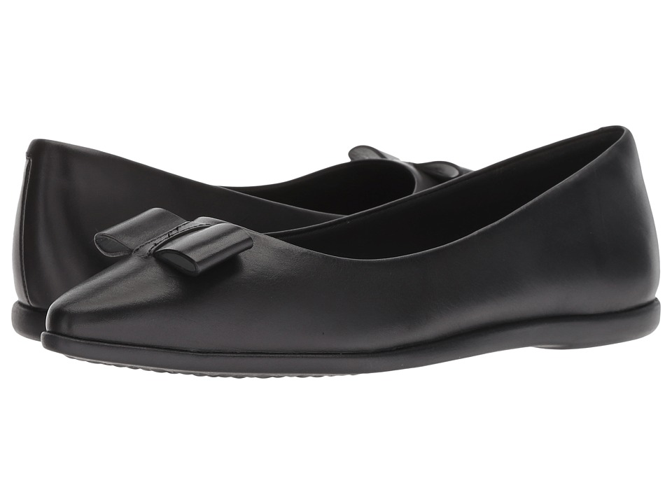 Cole Haan 3.Zerogrand Bow Skimmer (Black Leather) Women's Shoes